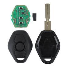 1PC Remote Key Fob Für BMW E46 E39 3/5/7 Serie Schwarz Remote Key Fob w/Chip Ersatz 433MHz Auto Zubehör