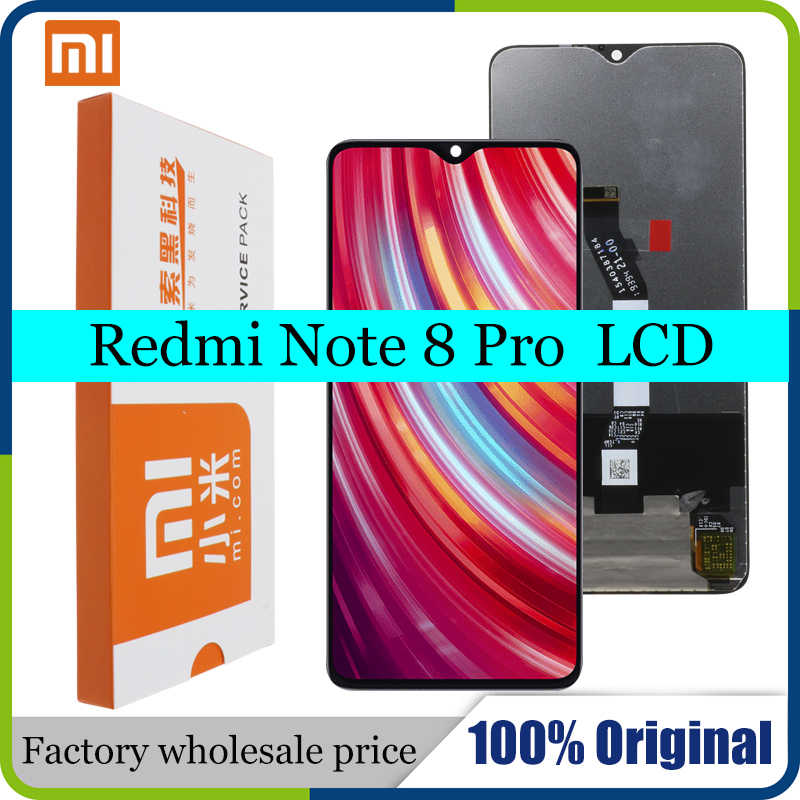 "Lcd 100%/6.53 ""original para xiaomi redmi note 8 pro, display lcd, touch screen, digitalizador, substituição"