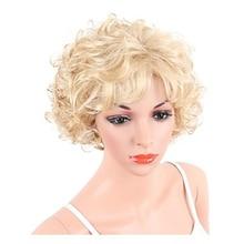 HAIRJOY cheveux synthétiques femmes blondes courtes bouclés perruques livraison gratuite