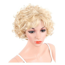 HAIRJOY sentetik saç kadın sarışın kısa kıvırcık peruk ücretsiz kargo
