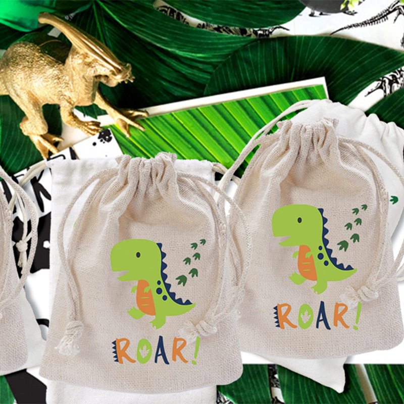 Dinosaur Jurassic World Party Supply Favor baby shower Gender Reveal first 1st Birthday Decoration candy Goodie Gift Bag Banner image