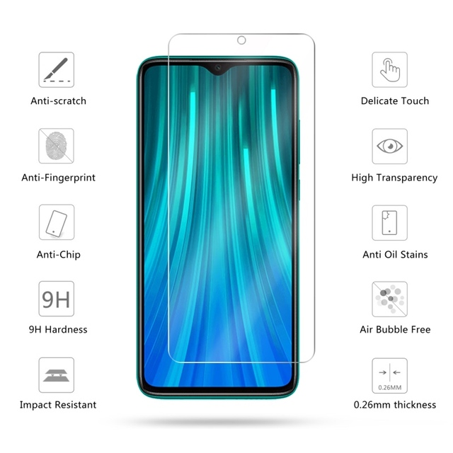 2PCS Protective Glass for Redmi Note 8T 7 8 9 s pro 8A 7A Tempered Glass Film Screen Protector for Xiaomi Redmi K30Pro K30 9H HD