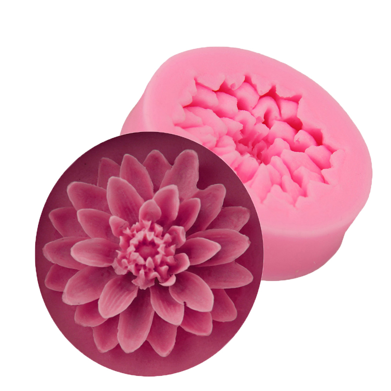 Flower Silicone Soap Mold Small Form Fondant Moule Savon 3D Gumpaste Cake Chocolate Decorating Tool DIY Making Mould Handmade