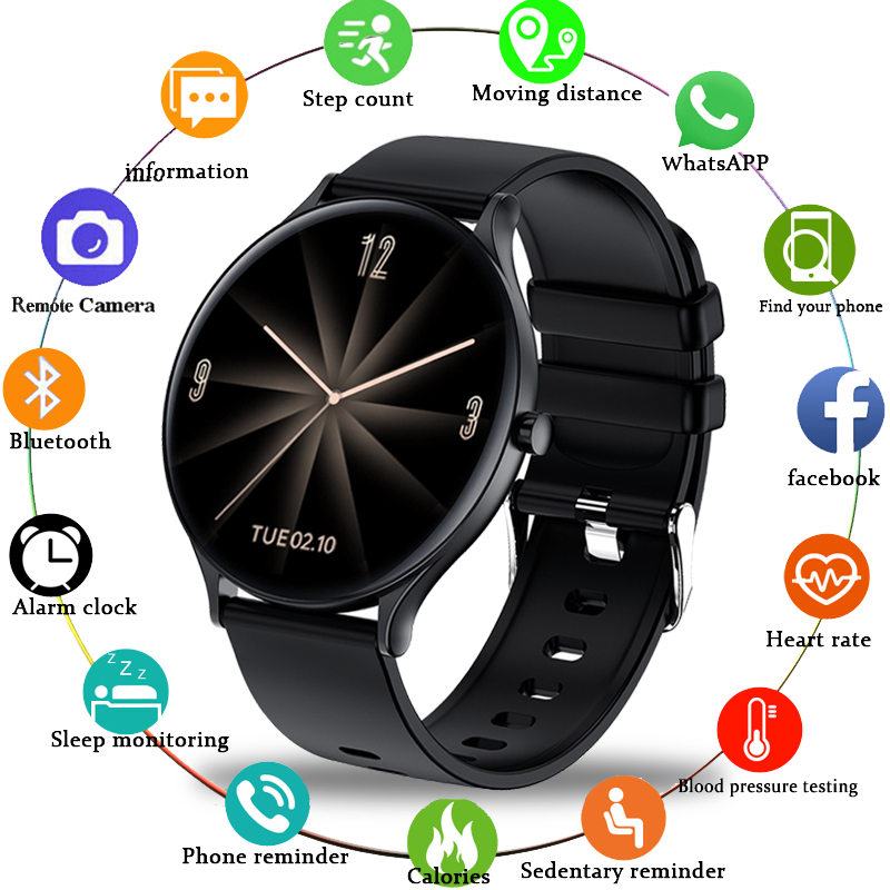 LIGE 2020 New Smart Watch Men Heart Rate Blood Oxygen Social APP Message Reminder Waterproof Sport Full Touch Screen smartwatch