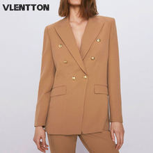 Женские винтажные блейзеры и жакеты шикарная на пуговицах верхняя