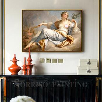 Europa Retro anioł bogini Notre Dame obraz olejny na płótnie ozdoby do dekoracji wnętrz drukuje przedpokój zdjęcia do salonu plakaty tanie i dobre opinie sorriso CN (pochodzenie) Wydruki na płótnie Pojedyncze PŁÓTNO Wodoodporny tusz Obraz z postacią Retro i nostalgia Stare meble