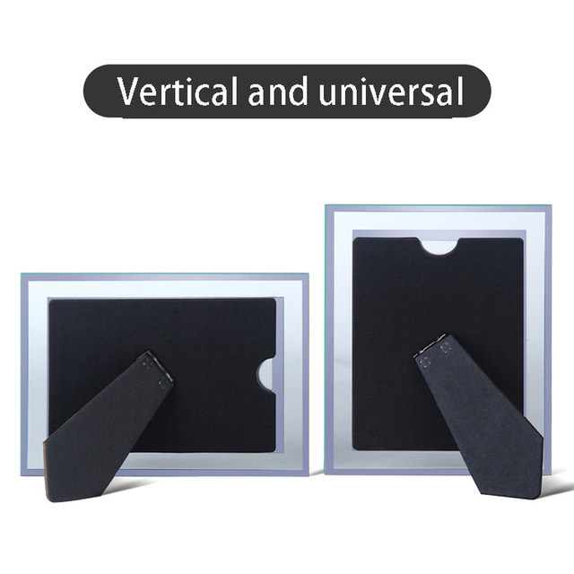 Ensemble de 2 cadres photo en cristal 5 7 6 8 10 pouces | Verre créatif, verre de photo personnalisée, photo gratuite
