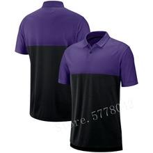 2020 New Men Minnesota Sideline Early Season Performance America FootballPolo Purple Black Rugby Shirt NZ  Jersey недорого