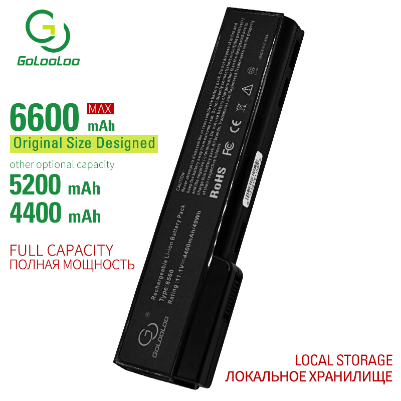 Golooloo 6 cells laptop <font><b>battery</b></font> for <font><b>Hp</b></font> <font><b>EliteBook</b></font> 8470w 8560p <font><b>8570p</b></font> QK642AA HSTNN-F08C I90C LB2F LB2H W81C CC06 CC06X CC06XL image