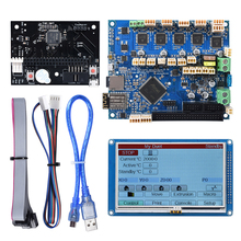 """3Dプリンタマザーボードクローン化されたデュエット2 wifi V1.04コントローラボード32ビットwifi 4.3 """"paneldueタッチスクリーンのためのcncマシン"""