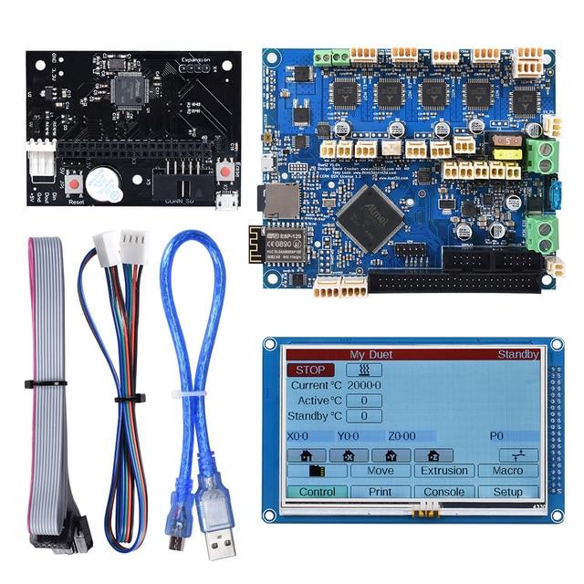 """Материнская плата 3D принтера Cloned Duet 2 WIFI V1.04 плата контроллера 32 бит с WIFI 4,3 """"панель сенсорного экрана для станка с ЧПУ"""