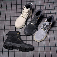 2019 winter Men boots high quality fashion rubber leather ankle warm men snow boots #MP6006