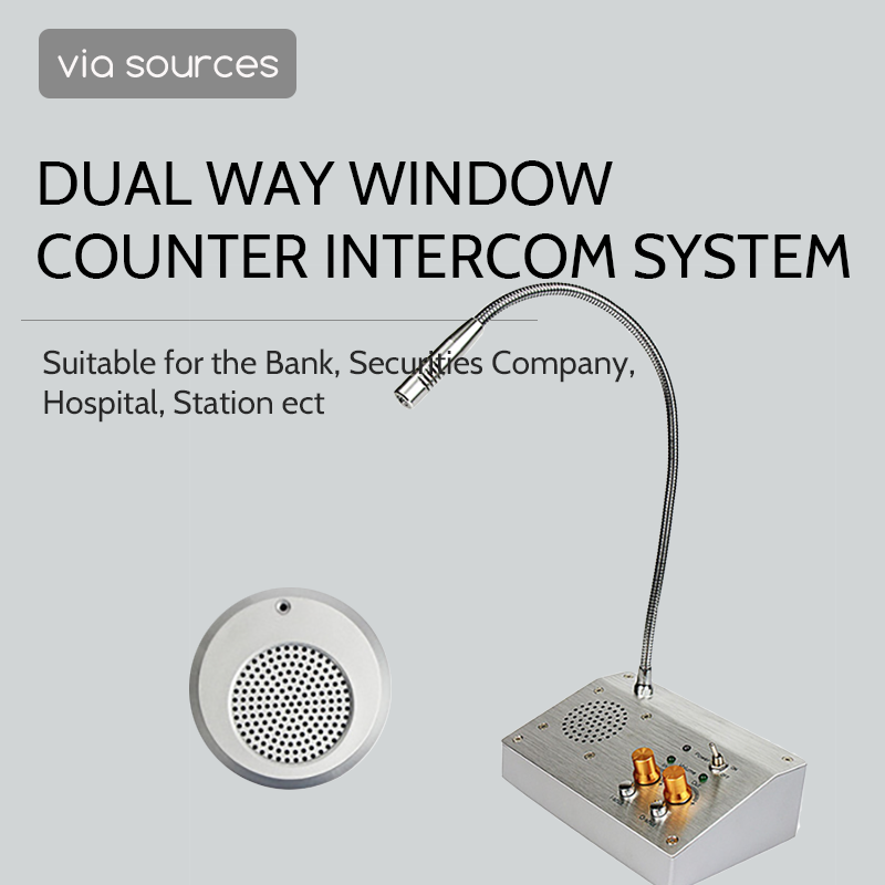Intercom For Counters Alarm Systems Security Home Interfone Intercomunicador Dual Way For Bank Office Store Station Output 2W