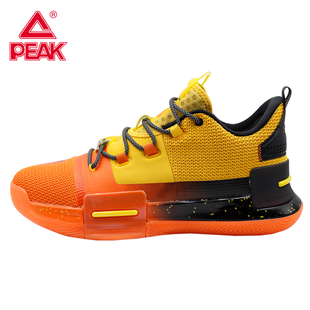 PEAK Professional Mens Basketball Shoes Outdoor Sneakers Men Wear Resistant Light Cushioning Breathable Sport Shoes Male