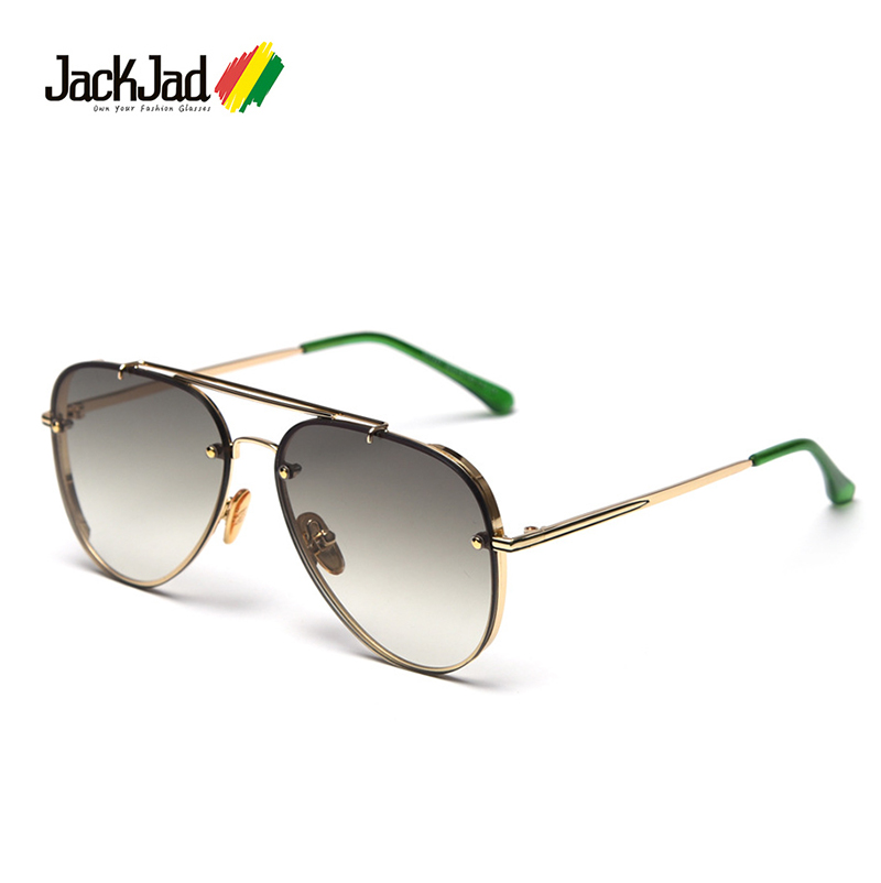 JackJad 2020 Fashion Top Quality Classic Pilot Style Gradient Sunglasses Men Rivet Brand Design Sun Glasses Oculos De Sol S31247