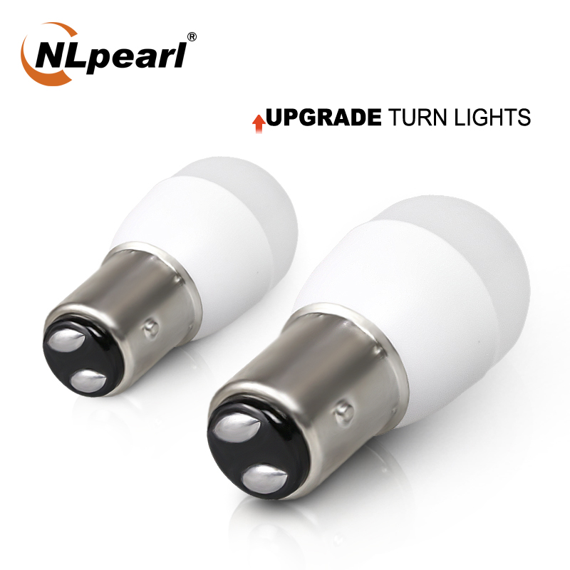 NLpearl 2x Signal Light 1157 Bay15d P21w5 LED Bulb 12V 3030SMD 1156 Ba15s Led P21w Py21w Brake Light Turn Signal Light White