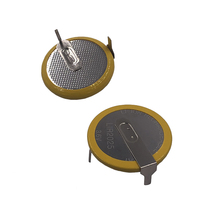 리튬 이온 충전지 LIR2025 2 핀 수직 90도 3.6V 리튬 버튼 코인 셀 배터리 2025 교체 VL2020