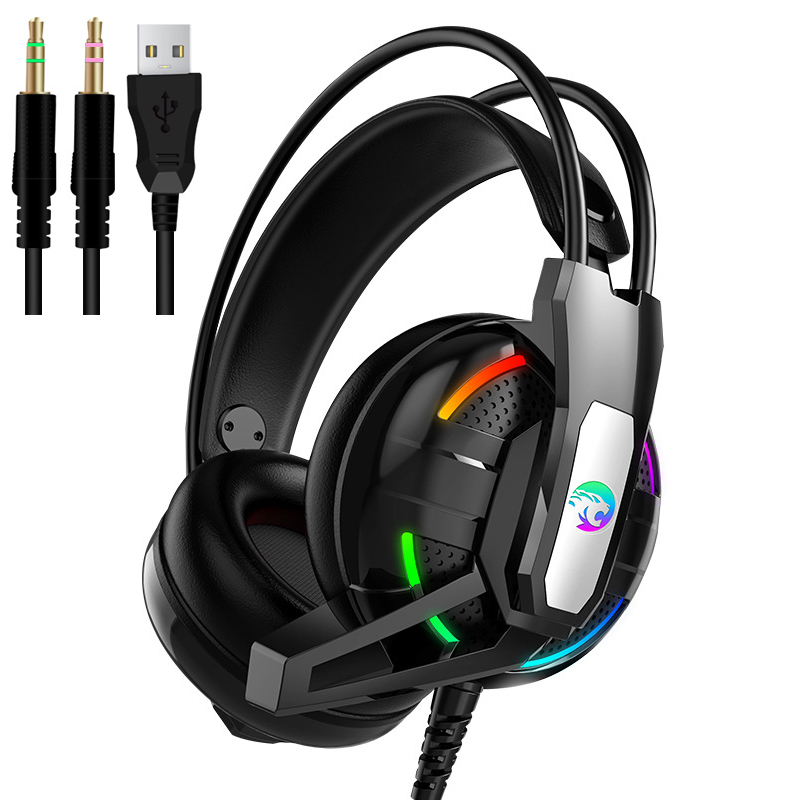 PS4 Gaming Headphones 4D Stereo RGB light Earphones Video Game Headset with Microphone for New Xbox One/Laptop/PC Tablet Gamer|Headphone/Headset|   - AliExpress