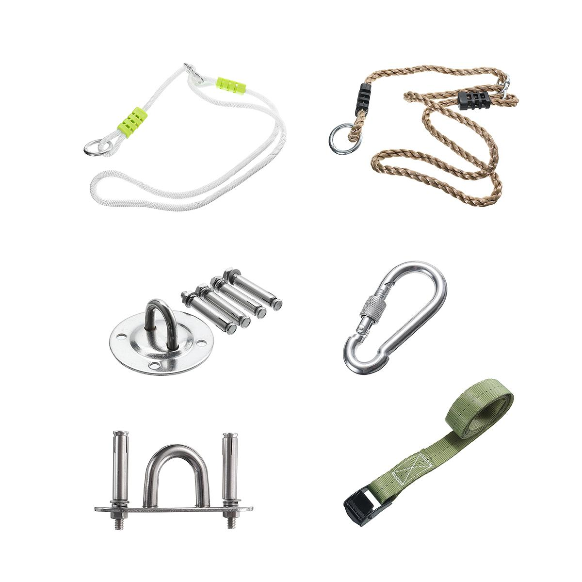 6 Types Travel Camping Hammock Parts Outdoor Plastic Tree Swing Conversion Extension Rope Kit Tools Swing Accessories