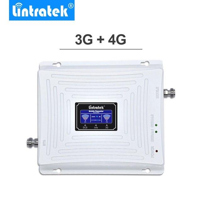 Amplificateur de rappel de répéteur de Signal daffichage à cristaux liquides 3G 4G de Lintratek 70dB GSM 1800MHz 3G 2100MHz 4G LTE 1800MHz pour des téléphones portables de téléphone portable.