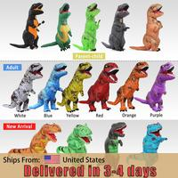 Adult T rex Trex inflatable Dinosaur costume Halloween blow up Costume for Women Men Animal Cosplay Party Fantasia Disfraces