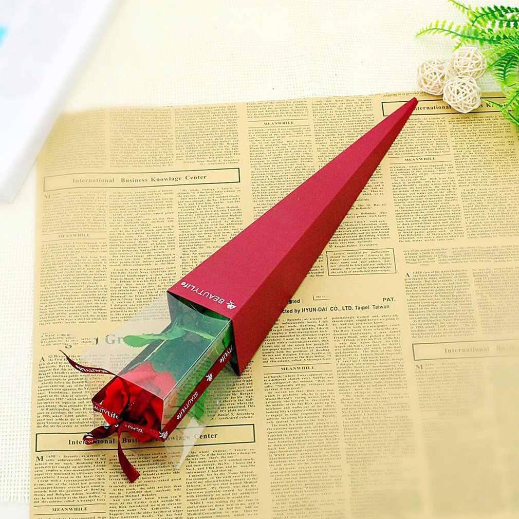 Katlanır kutu tek gül sabunu çiçek 520 sevgililer günü noel olay hediye takı mağaza promosyon göndermek için çift