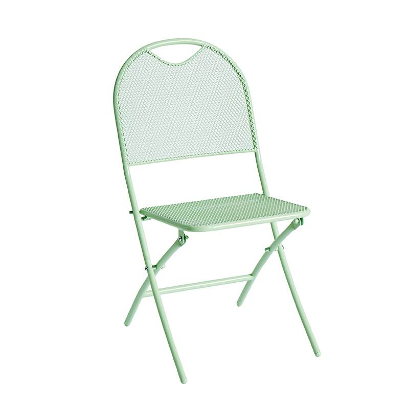 Balcony Table And Chair Three-piece Combination Wrought Iron Folding Table And Chair Outdoor Courtyard Cafe Leisure Table And Ch