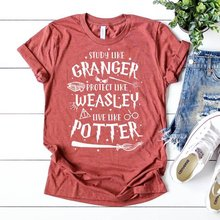 Обучайте как Грейнджер Защитите weasley live Поттер футболка