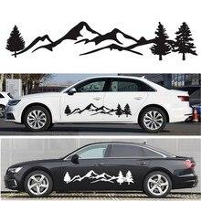 Venda quente 150 centímetros rv kit gráfico árvore montanha floresta cena carro adesivo decalque adesivo de vinil parágrafo campista rv reboque