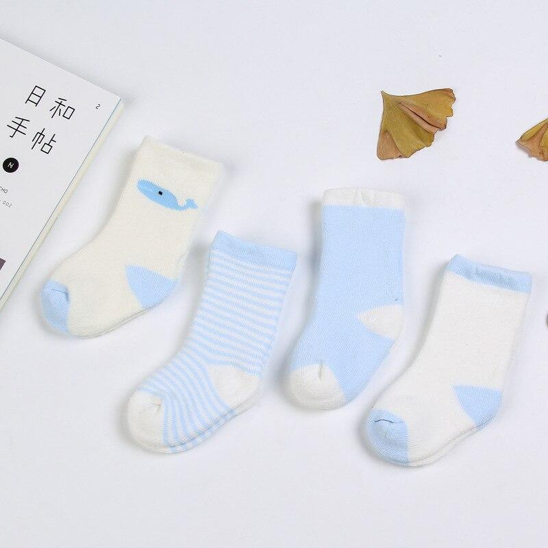 Купить с кэшбэком 4 Pair/Set Baby Kids Striped Sock Cartoon Cotton Baby Socks Fashion Elastic Socks Spring Autumn Summer Breathable Soft Sock
