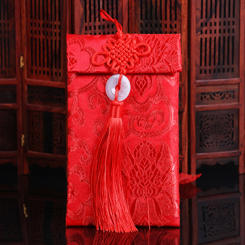 Wedding Supplies Marriage Red Packet Creative Universal Brocade Size Cloth Red Packet Wedding Yuan Red Envelope Wholesale