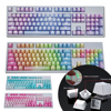 Newest 104Pcs PBT Backlight Color Matching Keycaps Replacement for Mechanical Keyboard Variety Of Color Choices Key Cap Switches