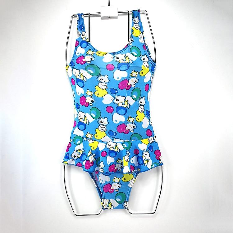 Drop Love For Water Korean-style KID'S Swimwear Girls Printed Big Boy Tight Siamese Swimsuit