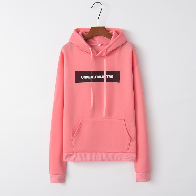 Женский свитшот с надписью Розовый Повседневный пуловер спортивный