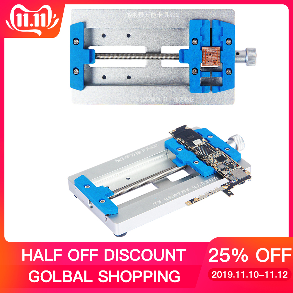 Kaisi Mobile Phone Soldering Repair Tool Motherboard PCB Holder Jig Fixture With IC Location For IPhone PCB Repair Holder