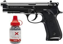 Umarex beretta totalmente licenciado 92a1 co2 metal completo semi/completo auto blowback pistola preto com/livre 1500 .177 bb arma de metal placa de parede