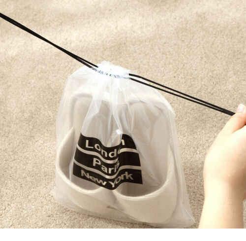 Transparente viaje almacenamiento Zapatos Ropa interior bolsa de almacenamiento cosmético equipaje viaje maletero subpaquete PVC a prueba de agua 5 piezas