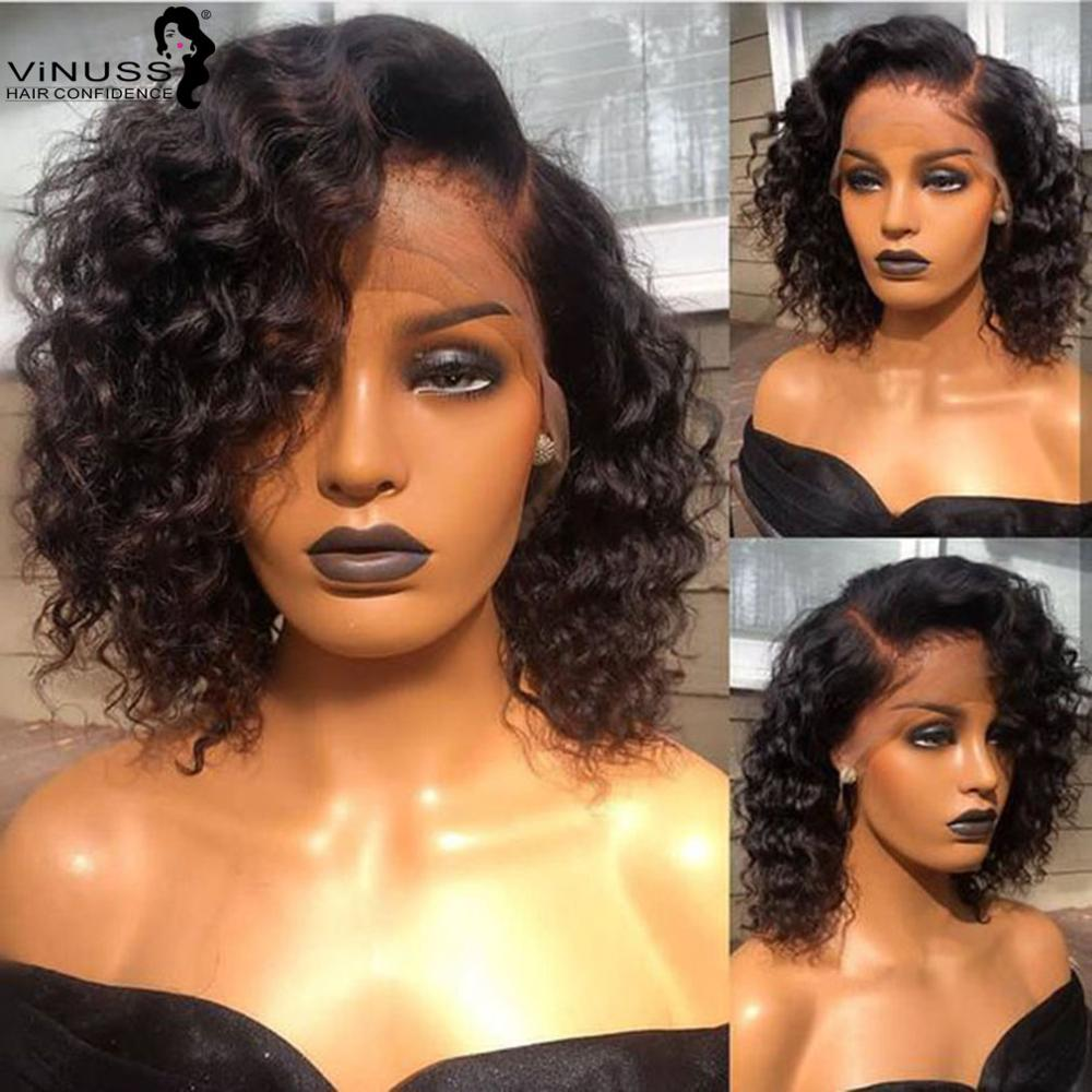 Fake Scalp Wig 13x6 Short Wig Raw Indian Hair Curly Lace Front Human Hair Wigs Pre Plucked With Baby Hair Wigs For Women Bob Wig