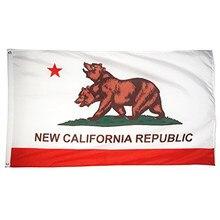 Tinuos nova califórnia república estado bandeira 3x5ft bandeira 100d 150x90cm poliéster latão grommets bandeira personalizada