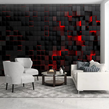 Custom photo wall 3D black simple atmosphere 8D wallpaper living room sofa TV background home decoration