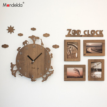Creative Large Decorative Wooden Metal Wall Clock Analog Retro Modern Unique Large Metal Wall Clocks Living Room Watch II50BGZ
