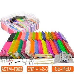 Image 3 - 50 Kleuren Polymer Clay Licht Zachte Klei Diy Zachte Molding Craft Oven Bakken Klei Blokken Verjaardagscadeau Voor Kinderen Volwassen veilige Kleurrijke CE gecertificeerd