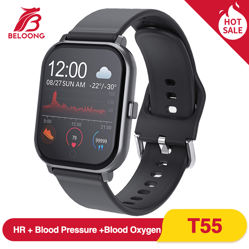 BELOONG T55 1.3inch Smart Watch 24h Heart Rate Blood Pressure Blood Oxygen Monitor Weather Push bluetooth Music  for Android IOS|Smart Watches| |  - title=