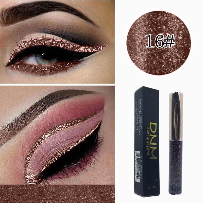 DNM 16 สี Bright SHINY Eyeliner Liquid Moisturizing Pearlescent Diamond Eyeliner กันน้ำ Eyeliner ครีม
