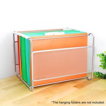 معلقة مجلد ملفات صندوق ، شبكة معدنية منظم الملفات صندوق معلق ملف طوي حامل صندوق تخزين للمكتب والمنزل ، A4 رسالة S