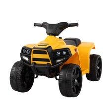 цена на Kids Battery Powered Electric Ride On Beach Car Outdoor Children Four-Wheel Driving ATV Car Headlight Rechargeable Gift T0816
