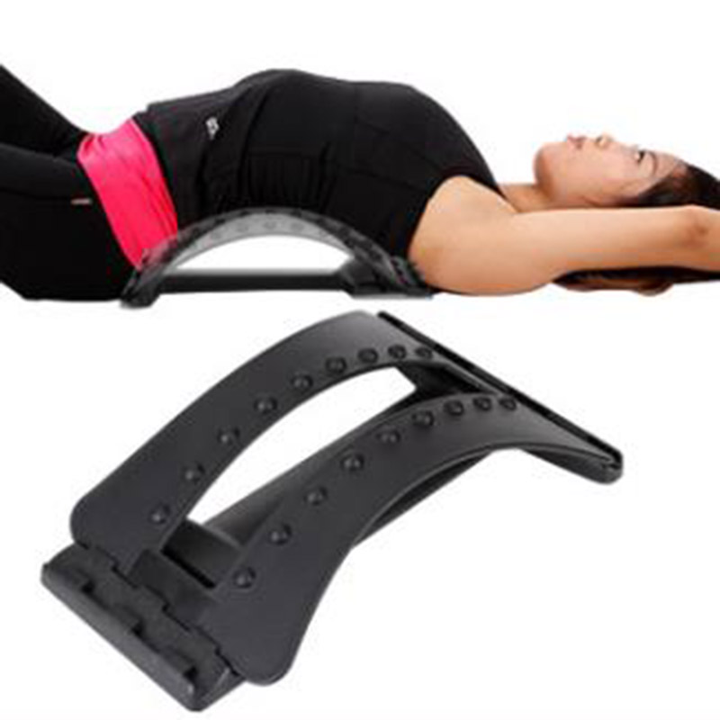 Lumbar spine tractor traction bed home bulging cervical vertebra waist back massager cushion for leaning on is prominent