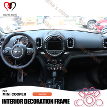 New Interior Decoration Center console Dash Board For mini cooper F60 car styling suite kit Circle Cover Sticker Case (9pcs)