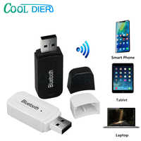 Wireless USB Adapter Bluetooth Receiver A2DP Dongle Stereo Music Audio Receiver 3.5mm Jack for Car AUX Android/IOS Mobile Phone