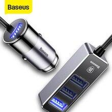Baseus 4 USB מהיר מטען לרכב עבור iPhone iPad סמסונג Tablet נייד טלפון מטען 5V 5.5A רכב USB מטען מתאם לרכב מטען